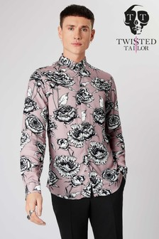 Twisted Tailor Floral Print Smart Shirt