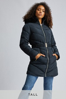Dorothy Perkins Tall Long Luxe Padded Jacket