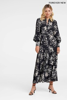 Forever New Printed Belted Shirt Dress