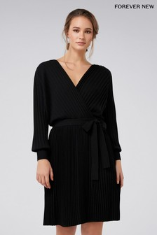 Forever New Pleat Knitted Dress