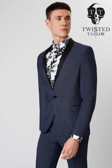 Twisted Tailor Textured Suit Jacket