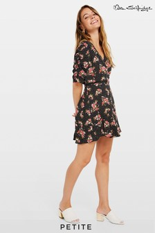 Miss Selfridge Petite Floral Spot Wrap Dress