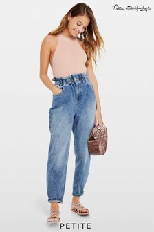 Miss Selfridge Petite Frill Mom Jeans