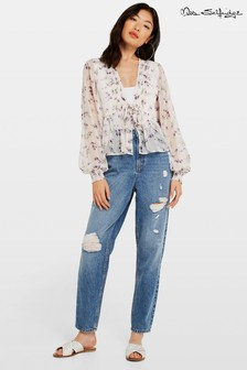 Miss Selfridge Ripped Mom Jean