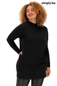 Simply Be Side Pocket High Neck Tunic