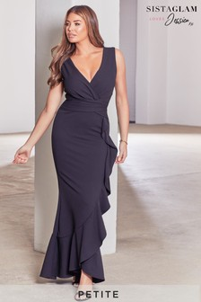 Sistaglam Loves Jessica Petite Ruffle Maxi Dress