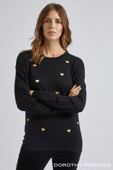 Dorothy Perkins Embroidered Heart Jumper