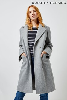 Dorothy Perkins Patch Pocket Animal Wrap Coat