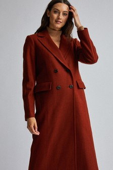 Dorothy Perkins Midi Double Breasted Coat