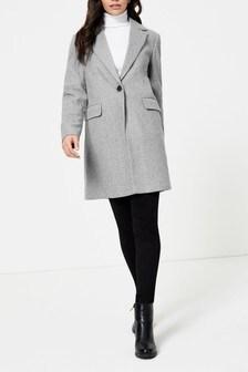 Dorothy Perkins Minimal Lined Crombie Coat