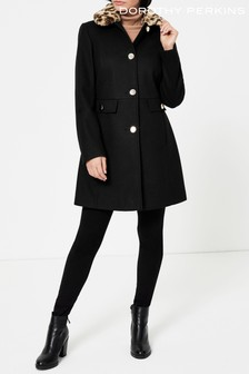 Dorothy Perkins Fur Collar Coat