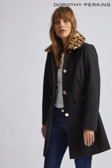 Dorothy Perkins Fur Collar Blazer