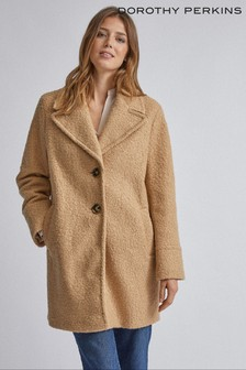 Dorothy Perkins Boucle One Button Coat
