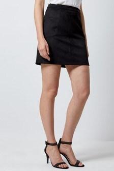 Dorothy Perkins Suedette Patch Pocket Skirt