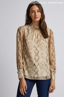 Dorothy Perkins Snake Print Long Sleeve Top