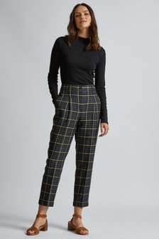 Dorothy Perkins Sacha Grid Check Peg Leg Trousers