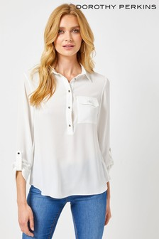 Dorothy Perkins Roll Sleeve Shirt
