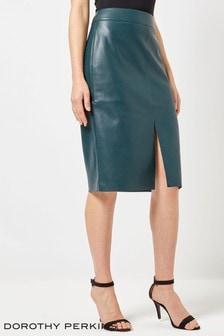 Dorothy Perkins PU Slit Pencil Skirt