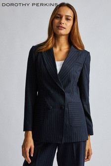 Dorothy Perkins Pinstripe Double Breasted Jacket