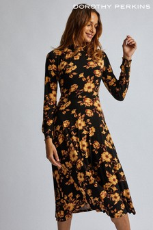 Dorothy Perkins Floral Sheered Midi Dress