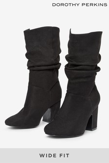 Dorothy Perkins Wide Fit Ruched Boot