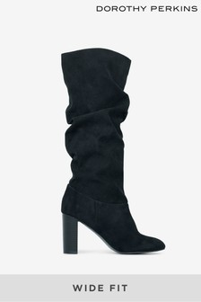 Dorothy Perkins Wide Fit Kiss 70's Suedette Long Boot
