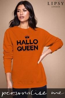 Personalised Lipsy Halloween Hallo Queen Women's Sweatshirt By Instajunction