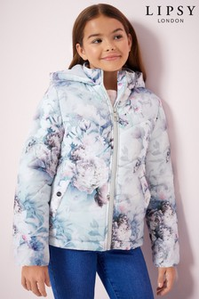 Lipsy Girl Ava Print Padded Coat