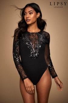 Lipsy Lace Sequin Artwork Body