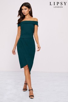 Lipsy Bardot Asymmetric Bodycon Dress