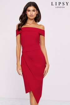 Lipsy Bardot Asymmetric Bodycon Dress