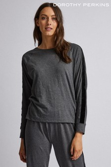 Dorothy Perkins Velvet Loungewear Trim Long Sleeve Top