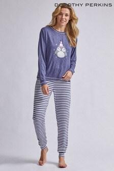 Dorothy Perkins Stripe Owl PJ Set