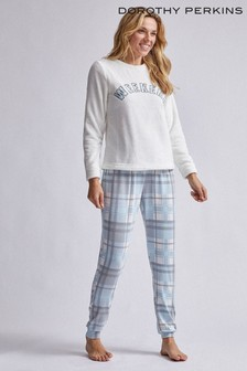 Dorothy Perkins Supersoft Check Slogan PJ Set