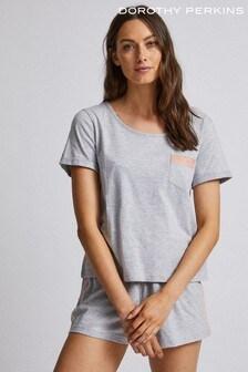 Dorothy PerkinsSatinTrimLoungewearT-Shirt
