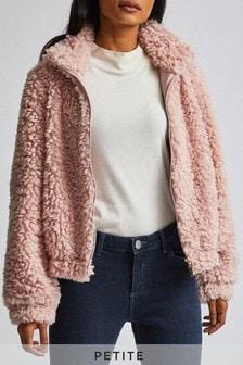Dorothy Perkins Petite Short Teddy Coat