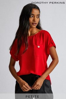 Dorothy Perkins Petite Button Pocket Tee