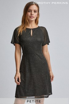 Dorothy Perkins Petite Mesh Fit And Flare Dress