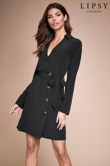 Lipsy Button Front Tie Waist Dress