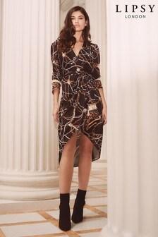 Lipsy Jazmina Chain Print Wrap Dress