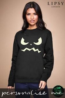 Personalised Lipsy Halloween Ghoul Face Women's Sweatshirt By Instajunction