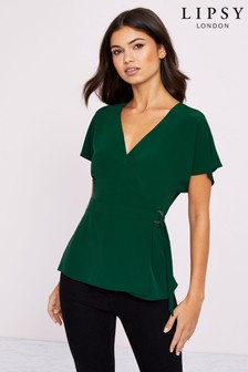 Lipsy D Ring Wrap Top
