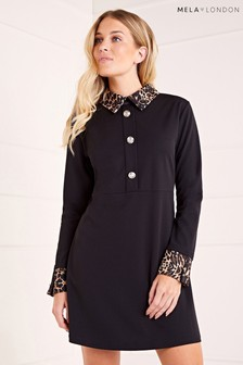 Mela London Contrast Collared Dress