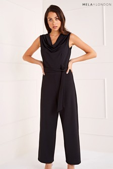 Mela London Cowl Neck Sleeveless Jumpsuit