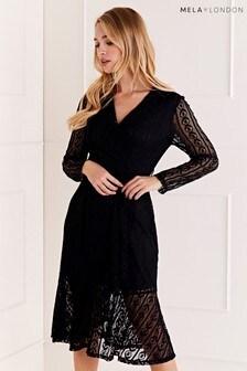 Mela London Lace Midi Dress