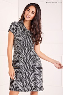 Mela London Cowl Neck Zip Dress