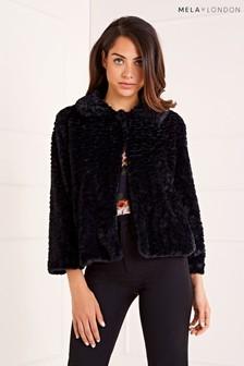 Mela London Faux Fur Collar Jacket