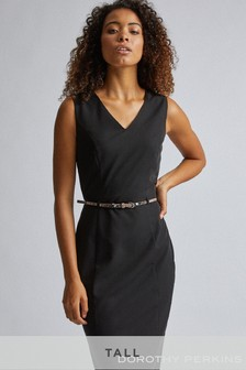 Dorothy Perkins Tall Snake Belt Pencil Dress