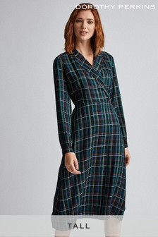 Dorothy Perkins Tall Check Wrap Dress