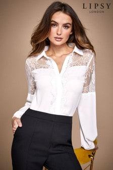 Lipsy Lace Yoke Shirt